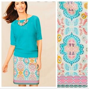 NEW Talbots Paisley Print Pencil Skirt